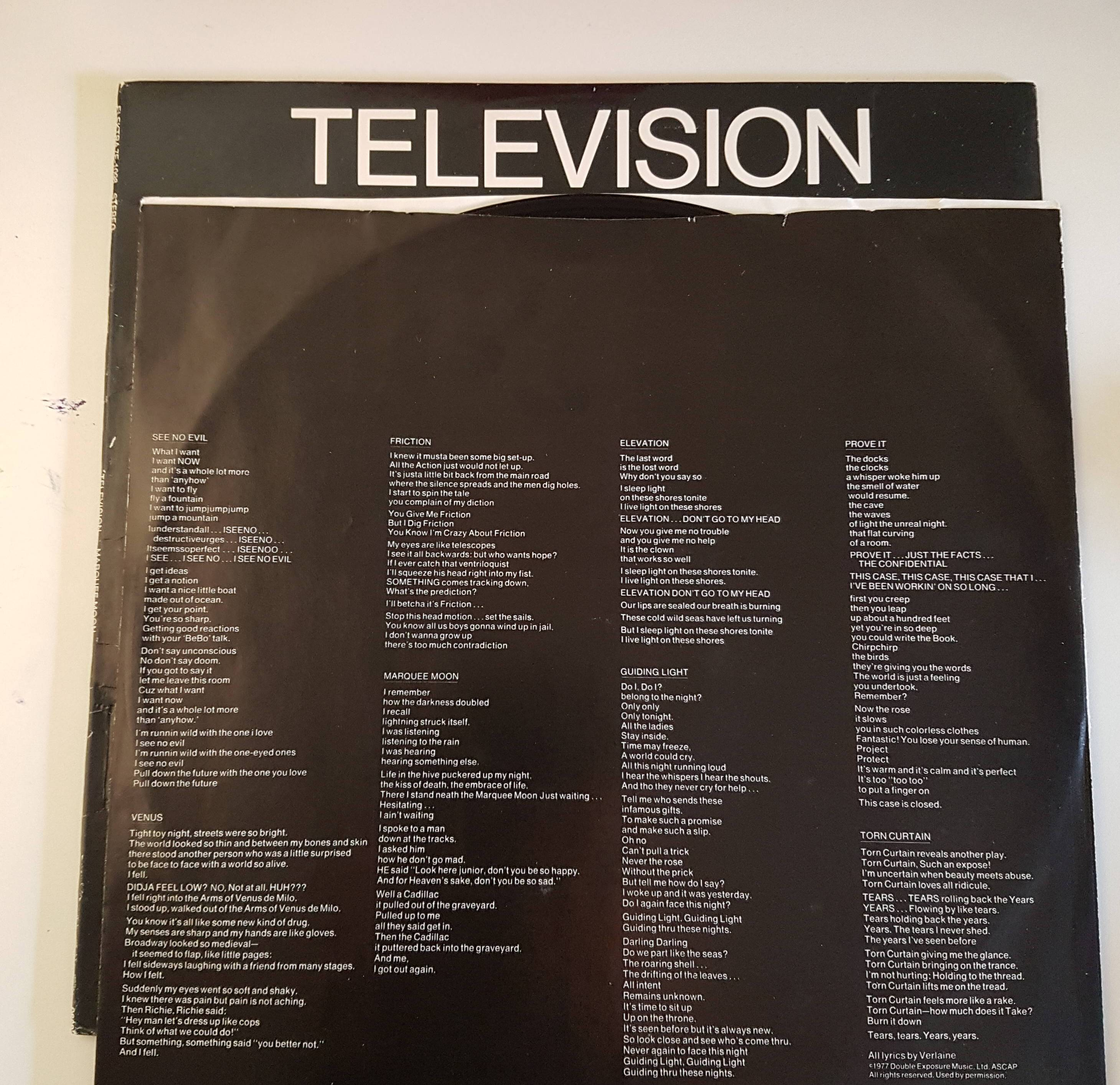 Television Marquee Moon Vinilos Blank Generation