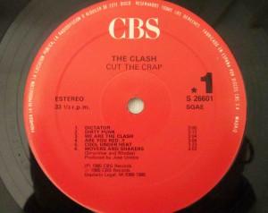 cut the crap the clash label