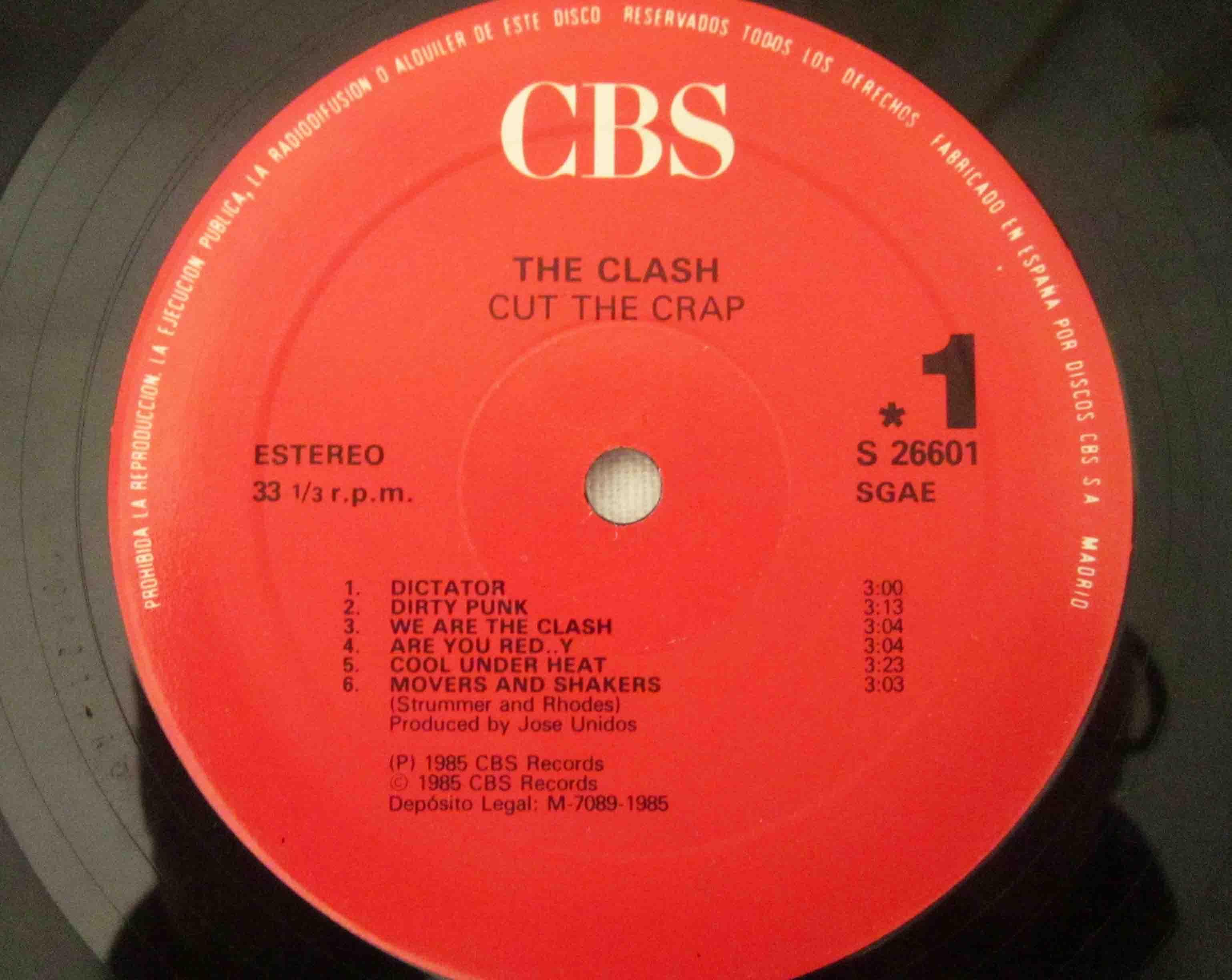 The Clash Cut The Crap Vinilos Blank Generation