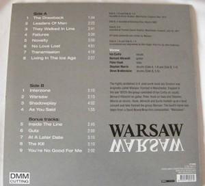 joy division warsaw back