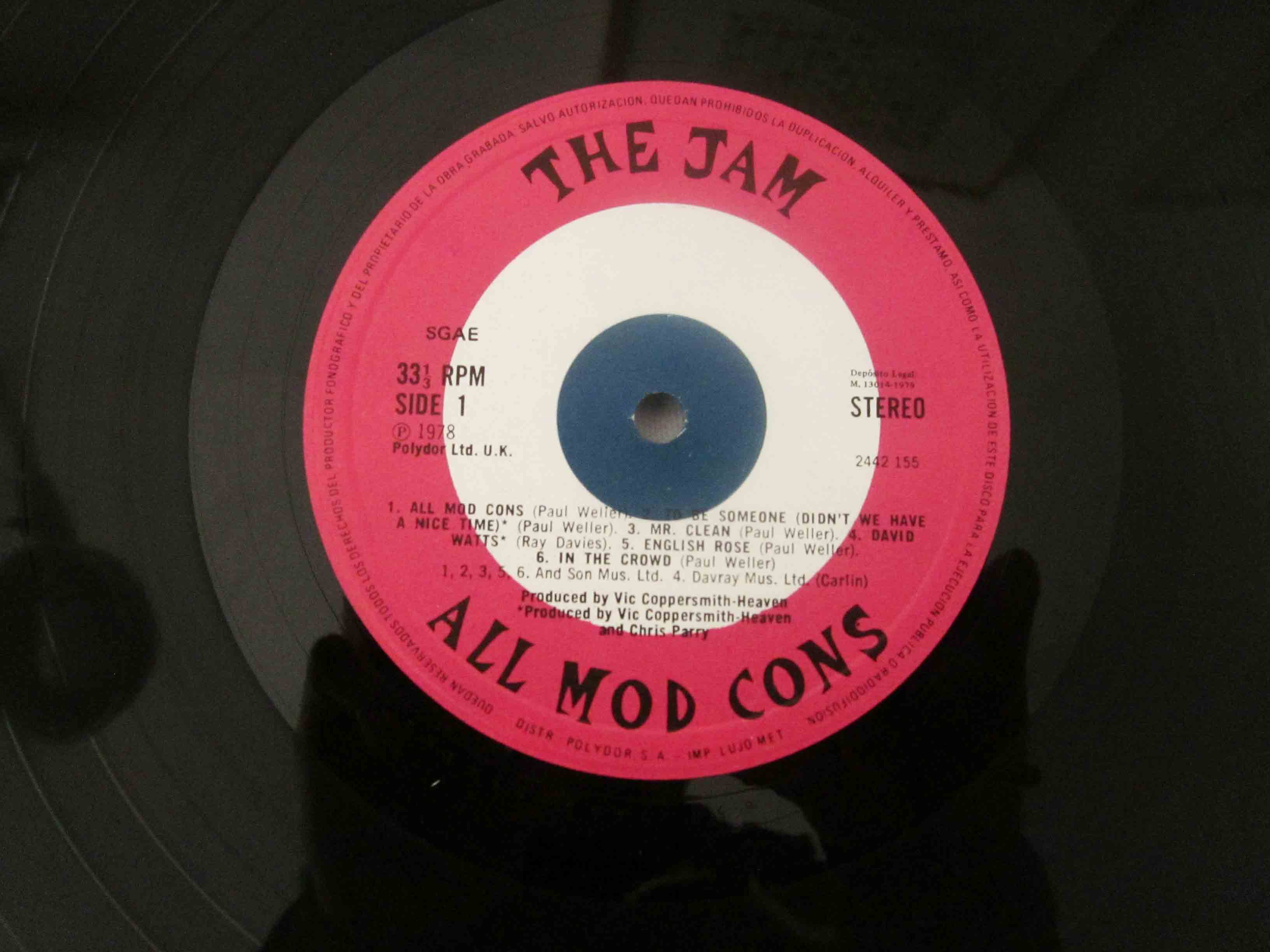 The Jam All Mod Cons Vinilos Blank Generation