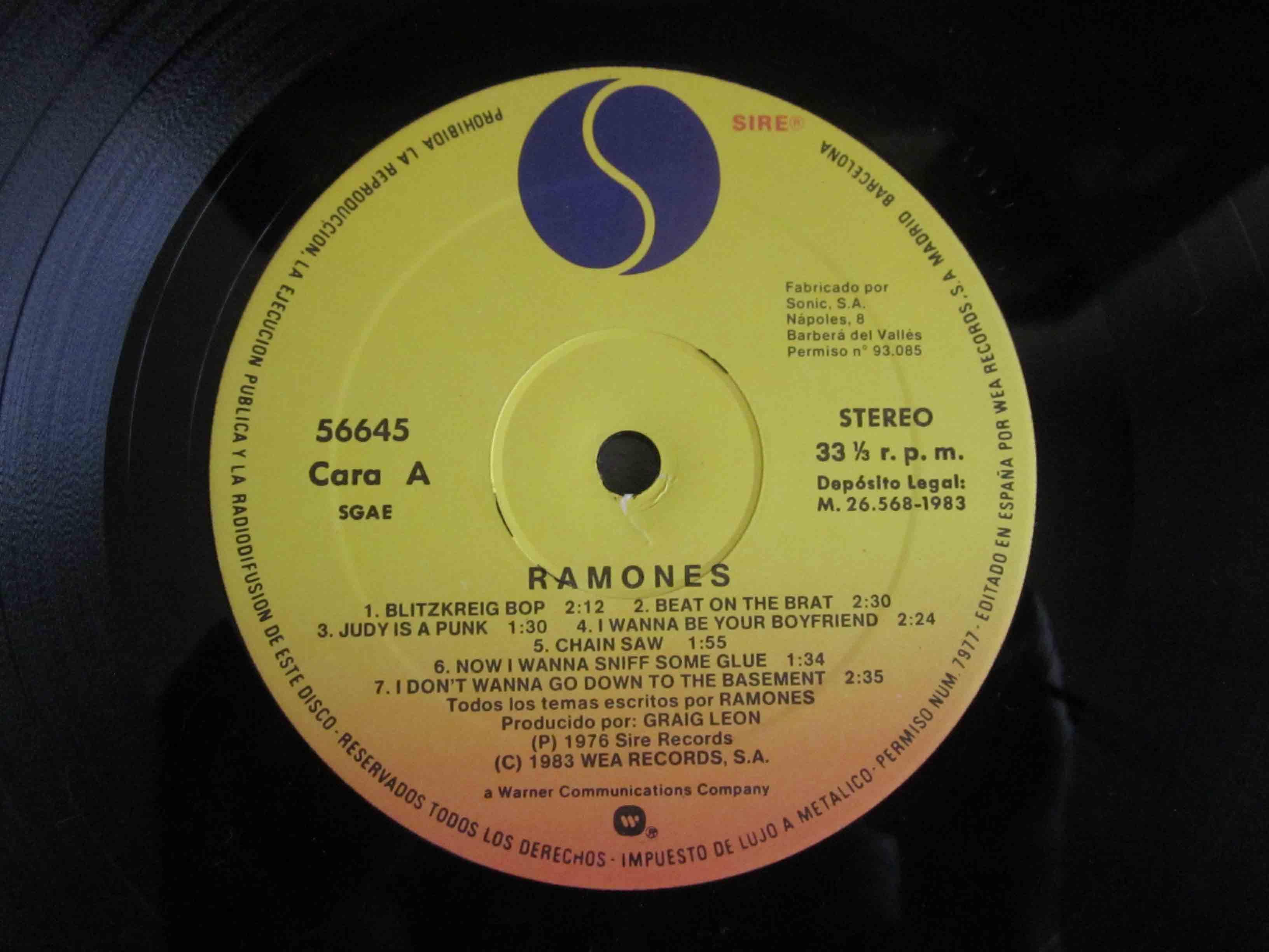 Ramones Ramones Vinilos Blank Generation