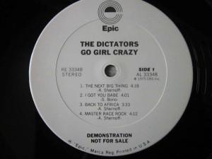 The Dictators Go Girl Crazy Vinilos Blank Generation