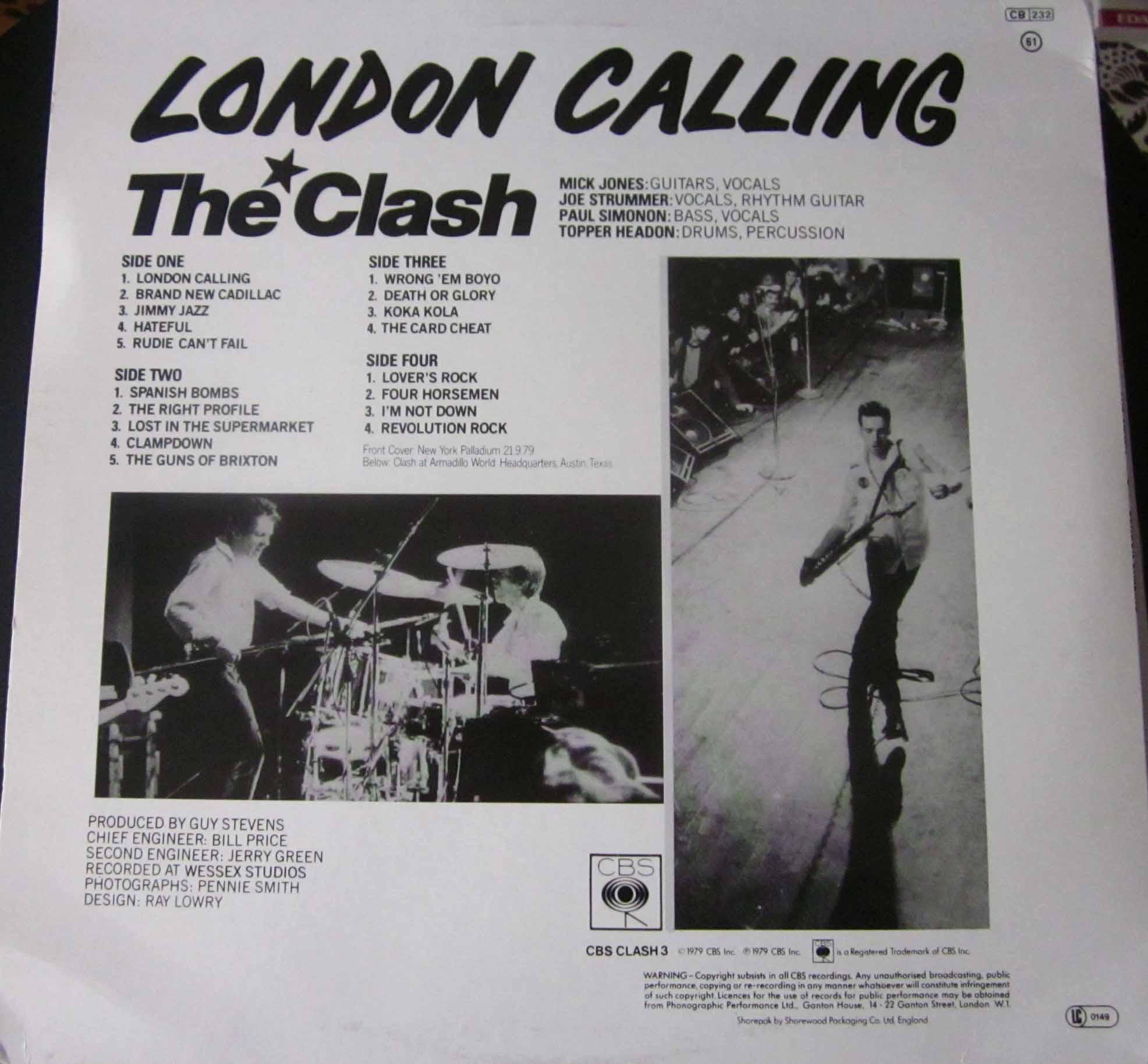 The Clash London Calling Vinilos Blank Generation