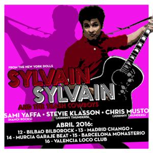 sylvain sylvain gira española 2016