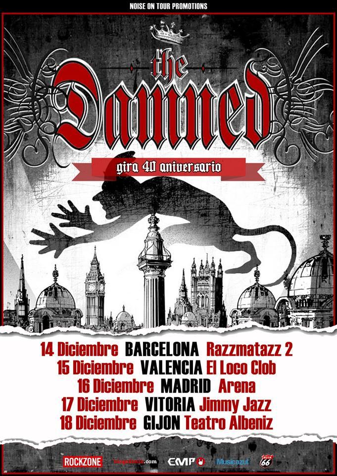 The Damned conciertos España 2016