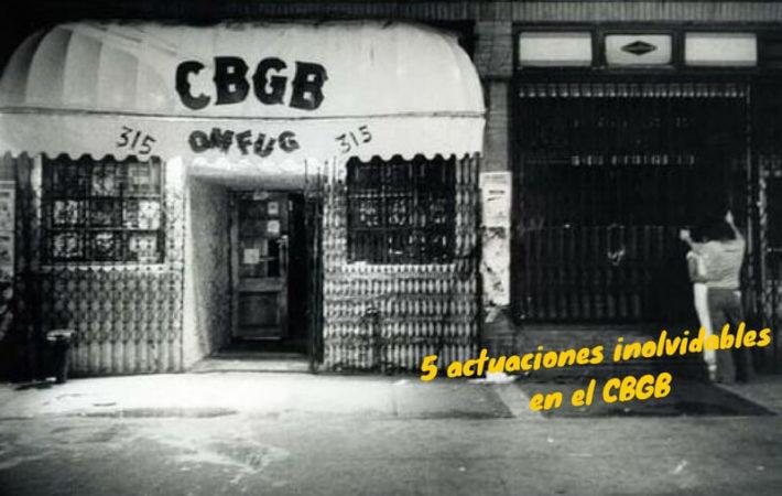 5 actuaciones inolvidables en el CBGB: la Casa del punk