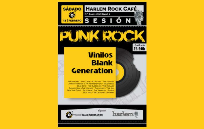Punk Rock Sesión Vinilos BG en Harlem Rock Café