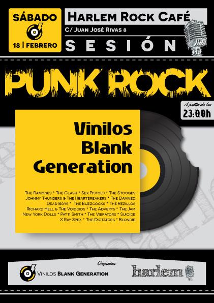 Punk Rock Sesión. Nuestro primer evento Vinilos Blank Generation