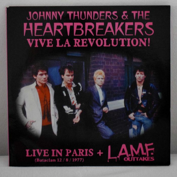 johnny thunders vive la revolution portada vinilo