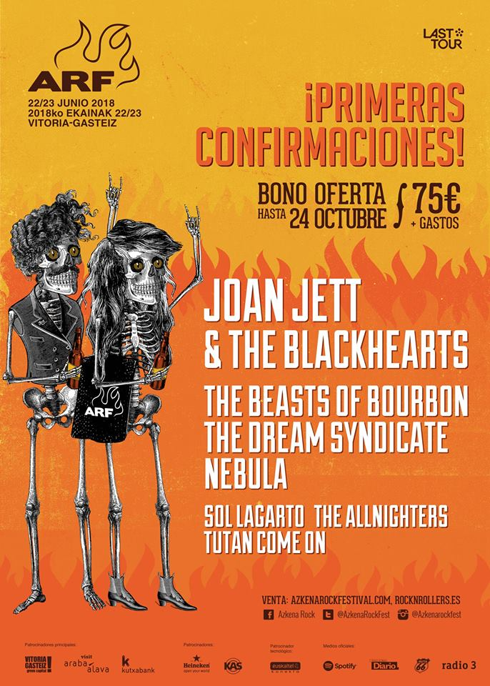 Joan Jett en Azkena Rock Festival 2018