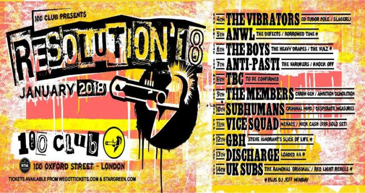 100club Resolution Festival 2018 en 100 Club