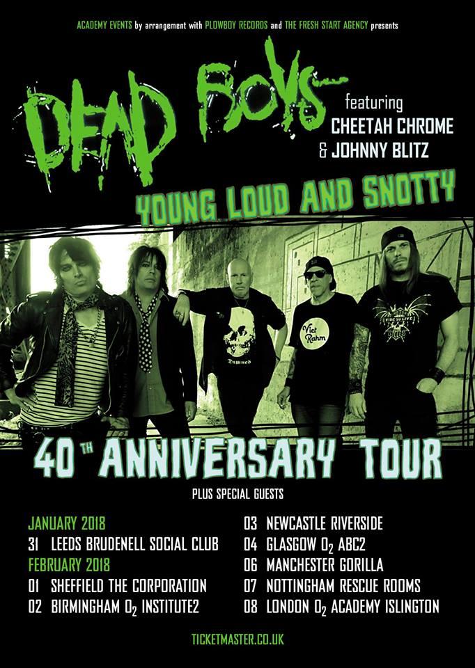 Dead Boys Tour 2018