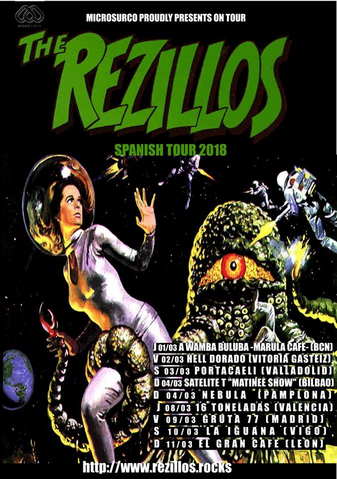 the rezillos spanish tour 2018