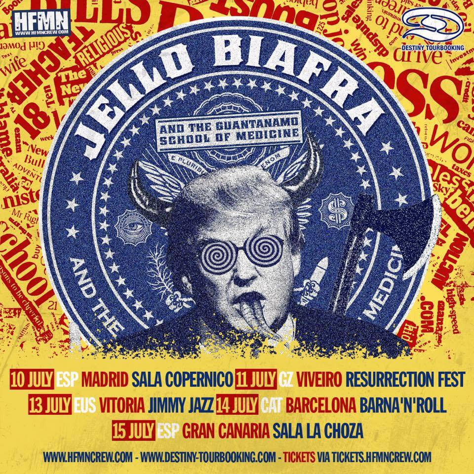 jello biafra conciertos verano 2018