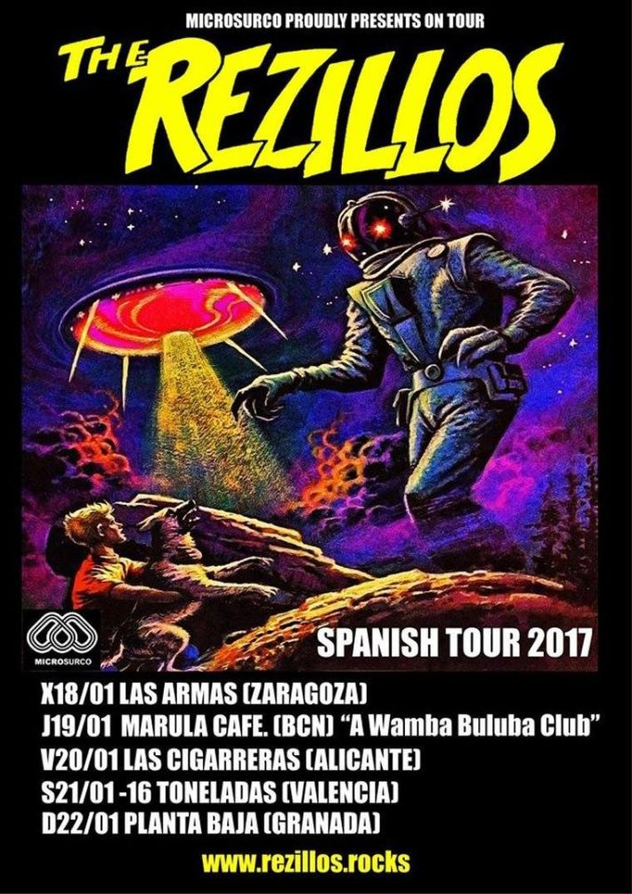 The Rezillos Spanish Tour 2017