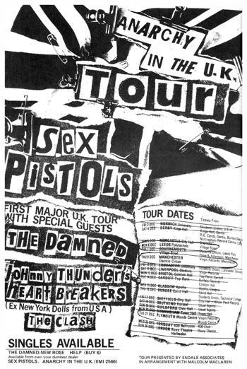 gira punk sex pistols the clash johnny thunders