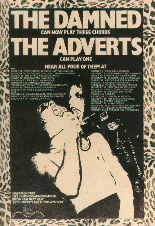 giras punk the damned the adverts