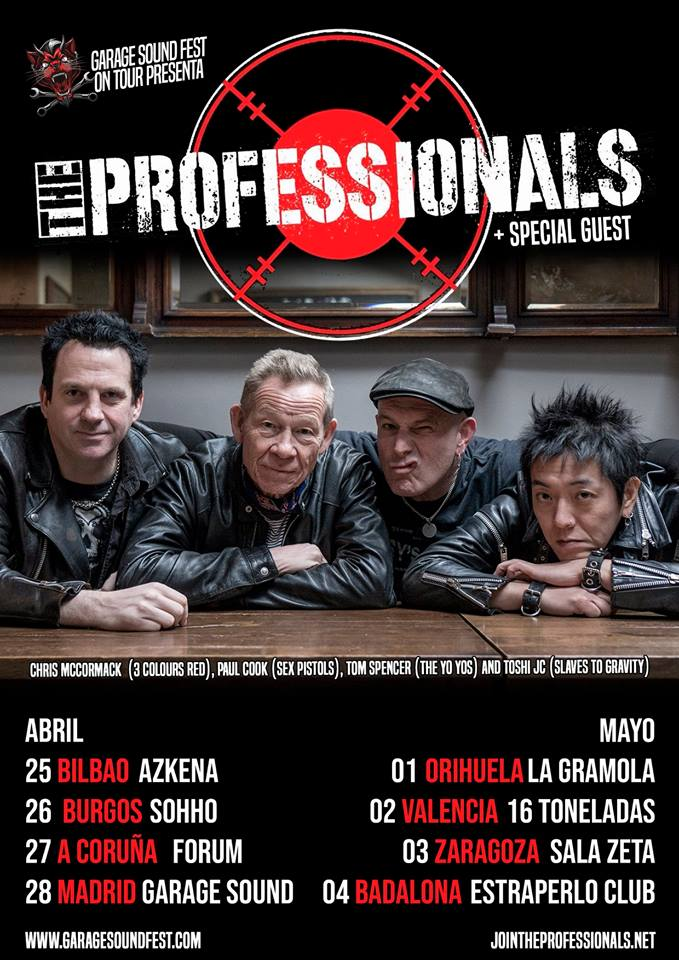 the professionals conciertos españa 2019