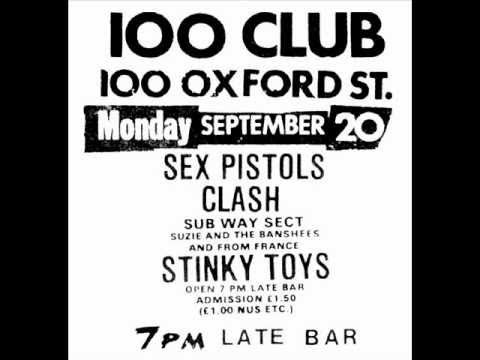 punk live 100 club london 1976