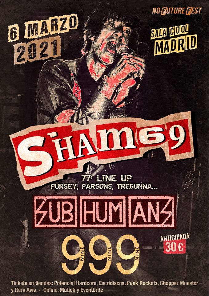 no future fest 2021 madrid sham69