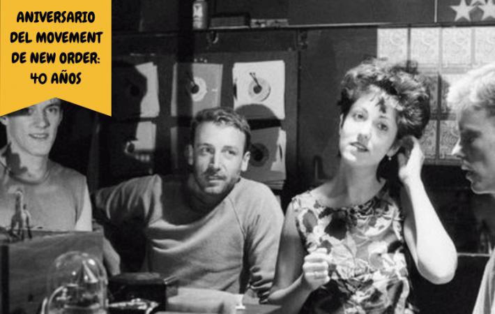 Aniversario del Movement de New Order disco 1981