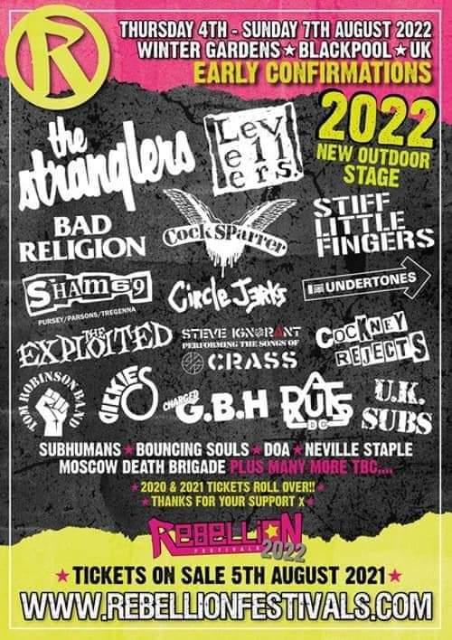 rebellion festivals 2022